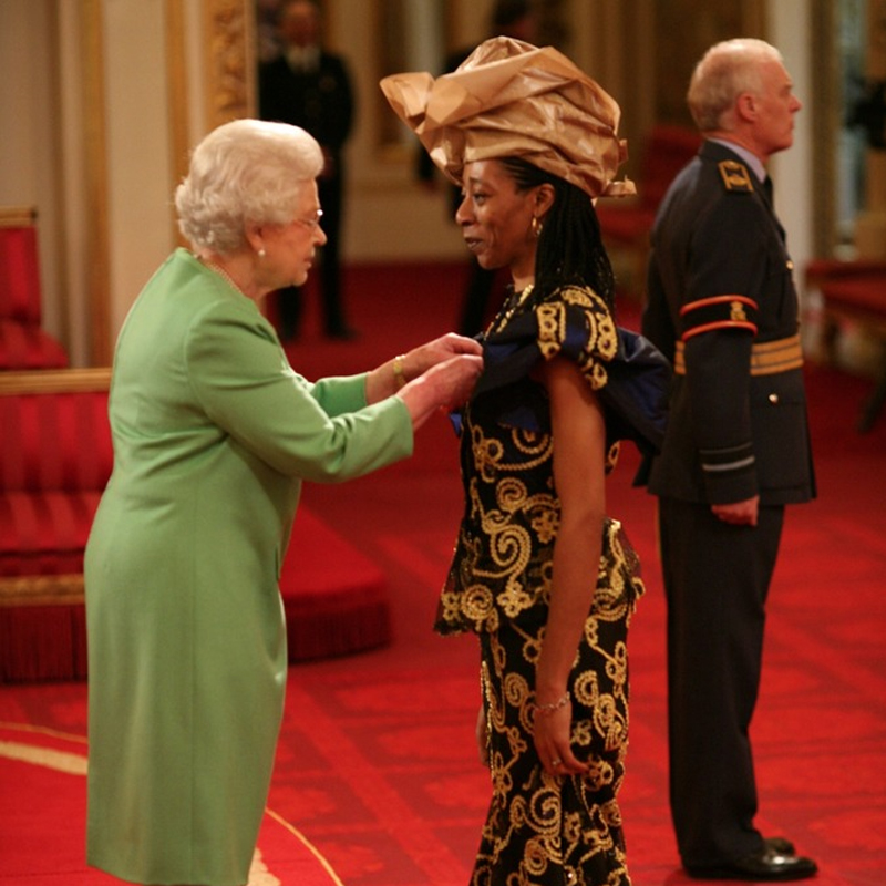 Pie Analysis - Dr Erinma Bell MBE -Receiving MBE